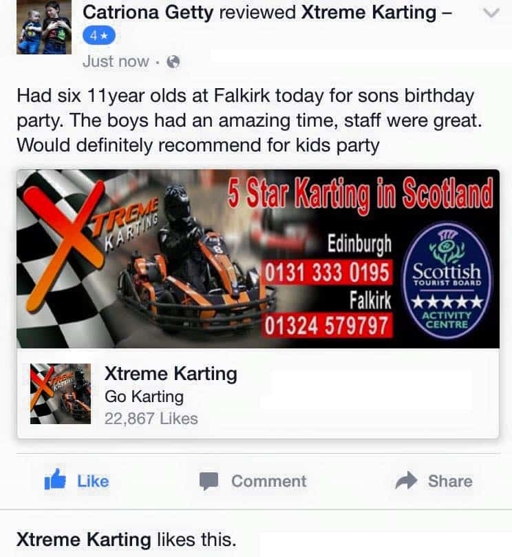 karting party review