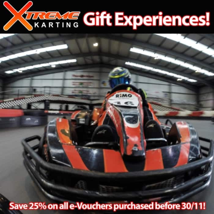 Xtreme Karting and Combat Gift Experience sale